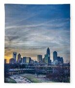 Charlotte Downtown Fleece Blanket