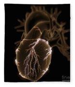 Coronary Blood Supply Fleece Blanket