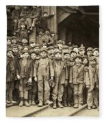 Hine Child Labor, 1911 Fleece Blanket