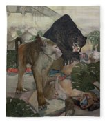 Jungle Book, 1903 Fleece Blanket