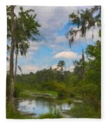 Lowcountry Marsh Fleece Blanket