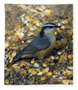 Nuthatch Fleece Blanket