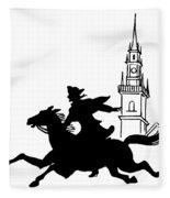 Paul Reveres Ride Fleece Blanket
