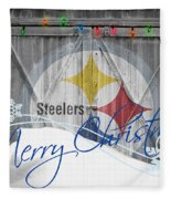 Pittsburgh Steelers Fleece Blanket by Joe Hamilton