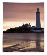 St Marys Lighthouse Fleece Blanket