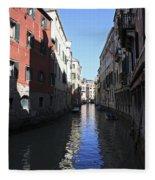 Narrow Canal Venice Italy Fleece Blanket