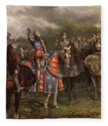 1400s Henry V Of England Speaking Fleece Blanket