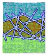 1455 Abstract Thought Fleece Blanket