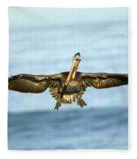 Brown Pelican Fleece Blanket