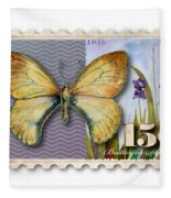 15 Cent Butterfly Stamp Fleece Blanket