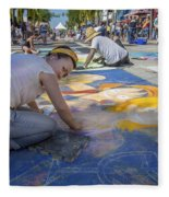Lake Worth Street Painting Festival Fleece Blanket