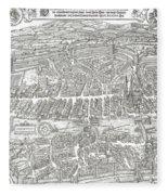1576 Zurich Switzerland Map Fleece Blanket