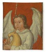 15th Century Angel Painting 6 Fleece Blanket