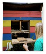 A Backyard Chicken Coop In Austin Fleece Blanket