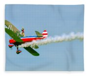 Action In The Sky During An Airshow Fleece Blanket