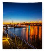 Bridge Of Lions St Augustine Florida Painted  Fleece Blanket