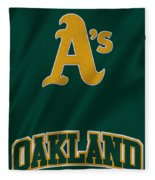 Oakland Athletics Fleece Blanket