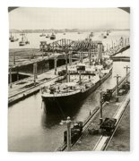 Panama Canal, C1910 Fleece Blanket