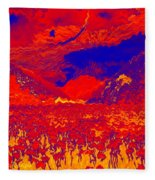 Space Landscape Fleece Blanket