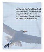 Soaring Heron Fleece Blanket