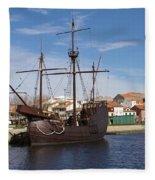 16th Century Ship Fleece Blanket