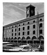 St Katherines Dock London Fleece Blanket
