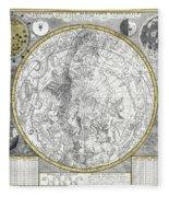 1700 Celestial Planisphere Fleece Blanket