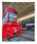 1776 And 1218 Locomotives Norfolk And Western Fleece Blanket