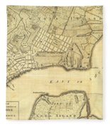 1776 New York City Map Fleece Blanket