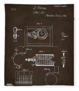 1794 Eli Whitney Cotton Gin Patent 2 Espresso Fleece Blanket