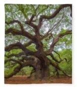 Southern Angel Oak  Fleece Blanket