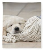 Golden Retriever Puppy Fleece Blanket