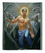 18. Jesus Rises / From The Passion Of Christ - A Gay Vision Fleece Blanket