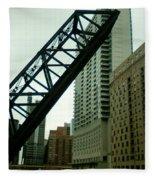 Kinzie Street Bridge Fleece Blanket