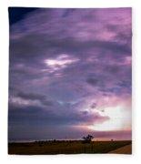 Wicked Good Nebraska Supercell Fleece Blanket