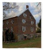 1823 North Carolina Grist Mill Fleece Blanket