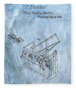 1836 Wood Molding Machine Fleece Blanket