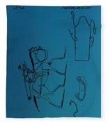 1837 Riding Saddle Patent Fleece Blanket