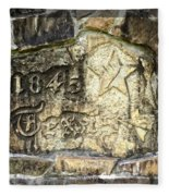 1845 Republic Of Texas - Carved In Stone Fleece Blanket