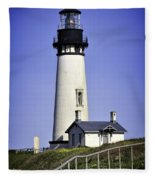 1872 Historic Lighthouse Fleece Blanket