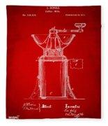1873 Coffee Mills Patent Artwork Red Fleece Blanket