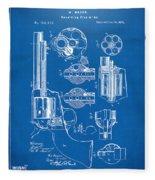 1875 Colt Peacemaker Revolver Patent Blueprint Fleece Blanket