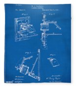1881 Taylor Camera Obscura Patent Blueprint Fleece Blanket