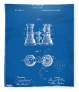 1882 Opera Glass Patent Artwork - Blueprint Fleece Blanket