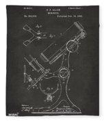 1886 Microscope Patent Artwork - Gray Fleece Blanket