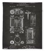 1889 First Computer Patent Gray Fleece Blanket
