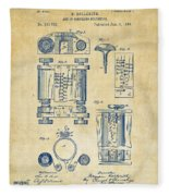 1889 First Computer Patent Vintage Fleece Blanket