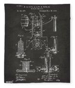 1890 Bottling Machine Patent Artwork Gray Fleece Blanket