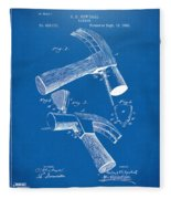 1890 Hammer Patent Artwork - Blueprint Fleece Blanket