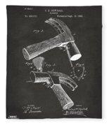 1890 Hammer Patent Artwork - Gray Fleece Blanket